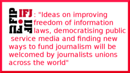 IFJ welcomes bold plans for media reform